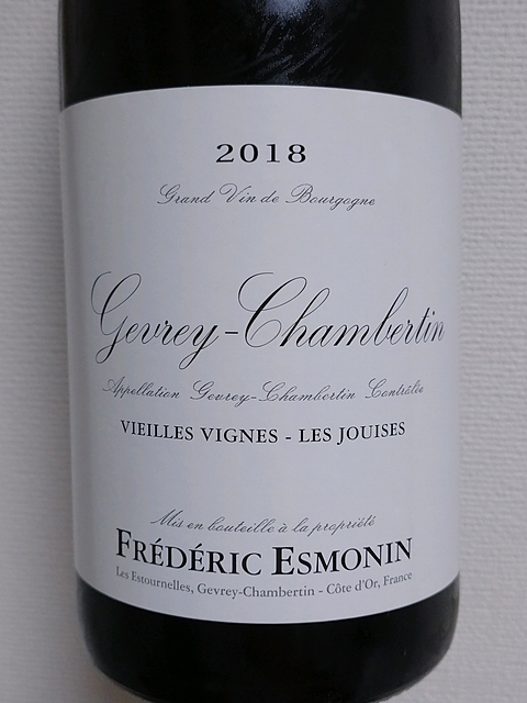 Frédéric Esmonin Gevrey Chambertin Vieilles Vignes Les Jouises