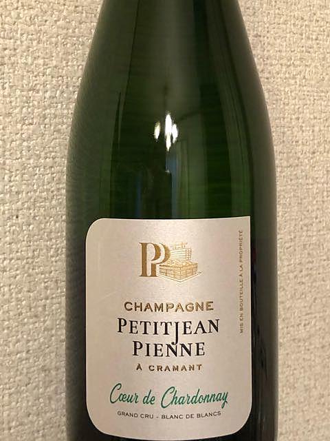 Petitjean Pienne Coeur de Chardonnay Extra Brut(プチジャン・ピエンヌ クール・ド・シャルドネ エクストラ・ブリュット)