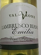 Valmarone Lambrusco Bianco Emilia Vino Frizzante