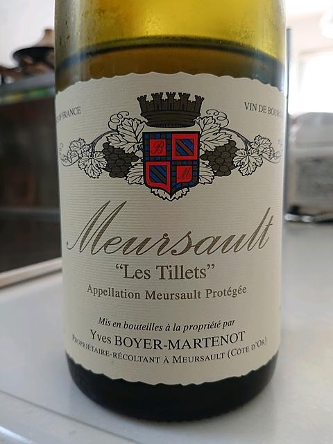Yves Boyer Martenot Meursault Les Tillets(イヴ・ボワイエ・マルトノ ムルソー・レ・ティレ)