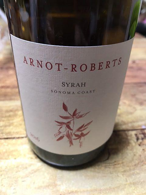 Arnot Roberts Syrah Sonoma Coast