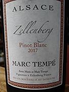 マルク・テンペ ピノ・ブラン ツェレンベルグ(2017)