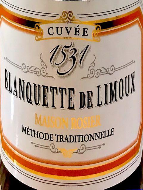 Maison Rosier Blanquette de Limoux Cuvée 1531