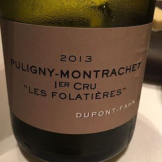 Dom. Dupont Fahn Puligny Montrachet 1er Cru Les Folatières