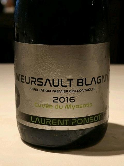 Laurent Ponsot Meursault Blagny 1er Cru Cuvée du Myosotis