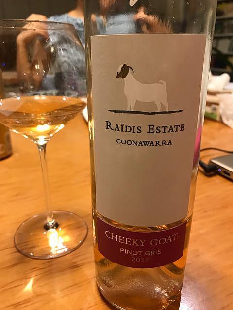 Raidis Estate Cheeky Goat Pinot Gris(ライディス・エステート チーキー・ゴート ピノ・グリ)