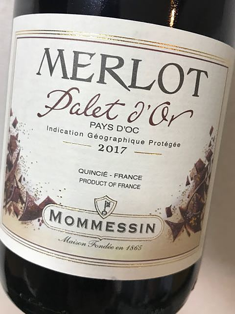 Mommessin Merlot Palet d'Or