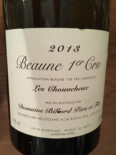 Dom. Billard Père et Fils Beaune 1er Cru Les Chouacheux(ドメーヌ・ビラー・ペール・エ・フィス ボーヌ プルミエ・クリュ レ・シュワショ)