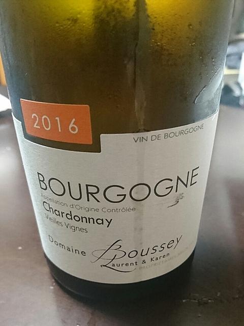 Dom. Boussey Bourgogne Chardonnay Vieilles Vignes(ドメーヌ・ブセイ ブルゴーニュ シャルドネ ヴィエイユ・ヴィーニュ)