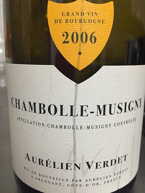 Aurélien Verdet Chambolle Musigny