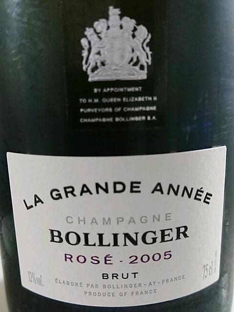 Bollinger La Grande Année Rosé Brut(ボランジェ ラ・グランダネ ロゼ ブリュット)
