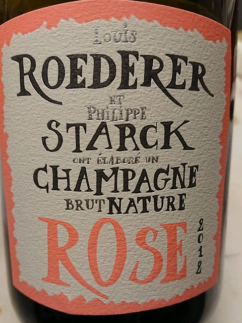 Louis Roederer et Philippe Starck Brut Nature Rosé