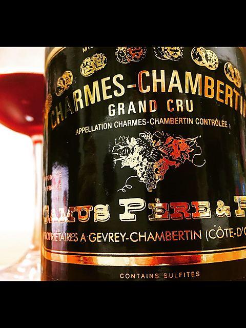 Camus Père & Fils Charmes Chambertin Grand Cru(カミュ・ペール・エ・フィス シャルム・シャンベルタン グラン・クリュ)