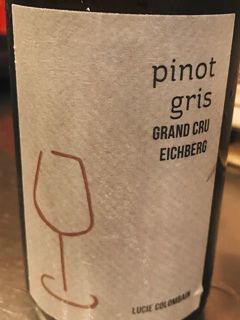 Lucie Colombain Pinot Gris Grand Cru Eichberg