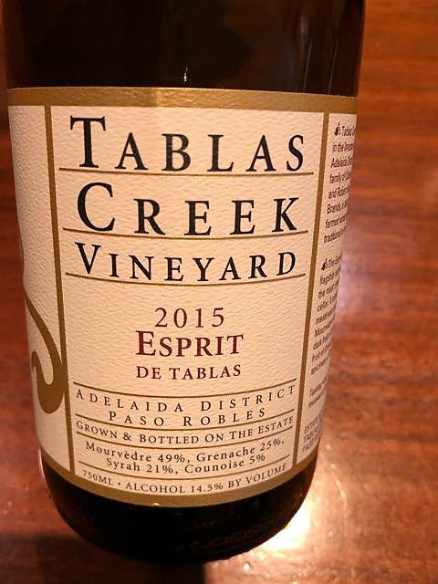 Tablas Creek Vineyard Esprit de Tablas Rouge(タブラス・クリーク・ヴィンヤード エスプリ・ド・タブラス ルージュ)