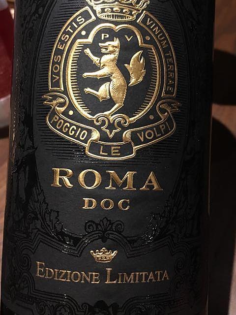 Poggio Le Volpi Roma Rosso Edizione Limitata