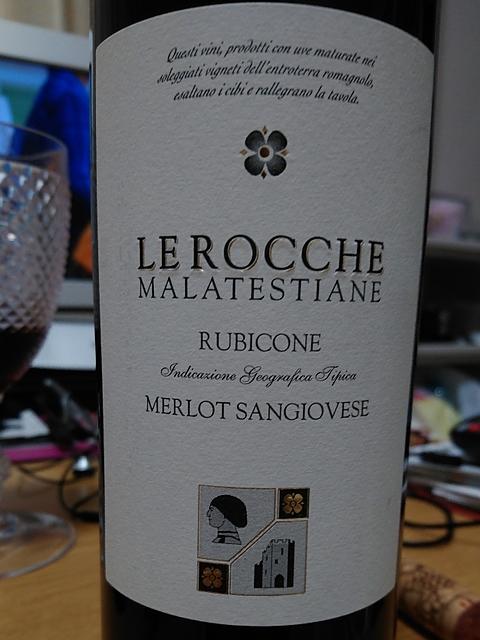 Le Rocche Malatestiane Rubicone Merlot Sangiovese(レ・ロッケ・マラテスティアーネ ルビコーネ メルロー サンジョヴェーゼ)
