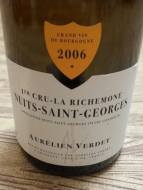 Aurélien Verdet Nuits Saint Georges 1er Cru La Richemone