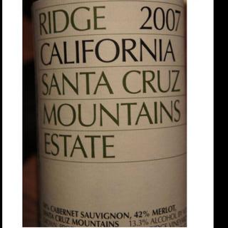 Ridge Santa Cruz Mountains Estate Red