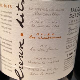 Jacques Selosse Lieux Dits Avize Les Chantereines