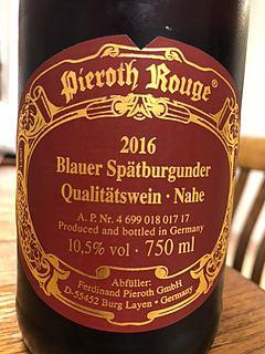 Pieroth Rouge Blauer Spätburgunder(ピーロート ルージュ ブラウアー・シュペートブルグンダー)