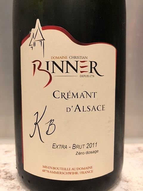 Binner Crémant d'Alsace KB 2011(ビネール クレマン・ダルザス)