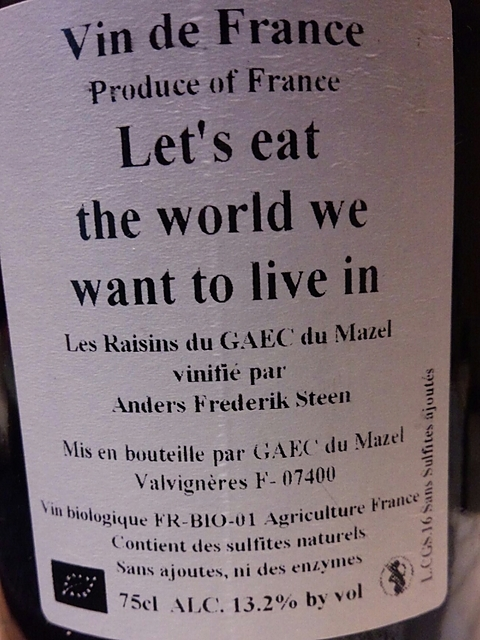 Let's eat the world we want to live in