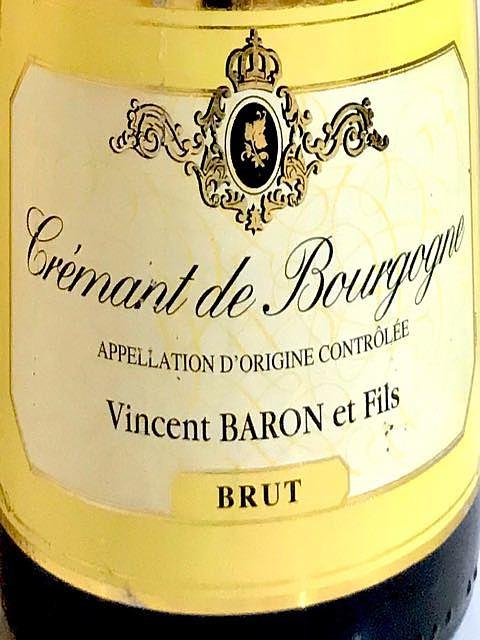 Vincent Baron & Fils Crémant de Bourgogne Brut(ヴァンサン・バロン クレマン・ド・ブルゴーニュ ブリュット)