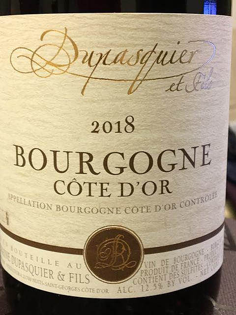Dupasquier & Fils Bourgogne Côte d'Or Rouge(デュパスキエ ブルゴーニュ コート・ドール ルージュ)