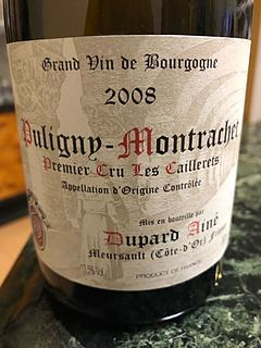 Dupard Ainé Puligny Montrachet 1er Cru Les Caillerets(デュパール・エイネ ピュリニー・モンラッシェ プルミエ・クリュ レ・カイユレ)