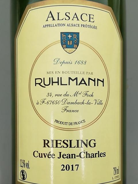 Ruhlmann Riesling Cuvée Jean Charles