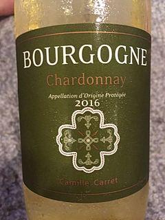Camille Carret Bourgogne Chardonnay(カミーユ・カレ ブルゴーニュ シャルドネ)