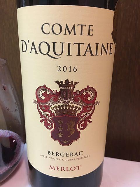 Comte d'Aquitaine Merlot(コント・ダキテーヌ メルロ)