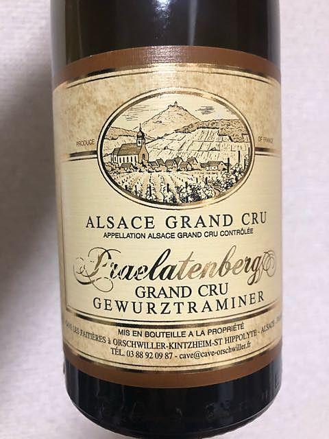 Cave Vinicole Orschwiller Gewürztraminer Praelatenberg Grand Cru
