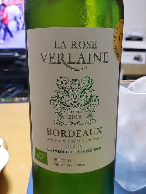 La Rose Verlaine Bordeaux Blanc