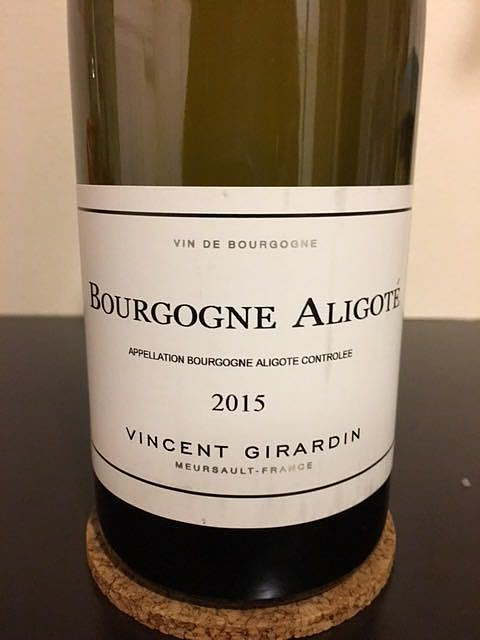 Vincent Girardin Bourgogne Aligoté(ヴァンサン・ジラルダン ブルゴーニュ・アリゴテ)