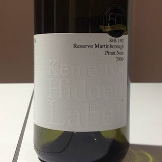 Kemenys Hidden Label KHL 1382 Reserve Martinborough Pinot Noir
