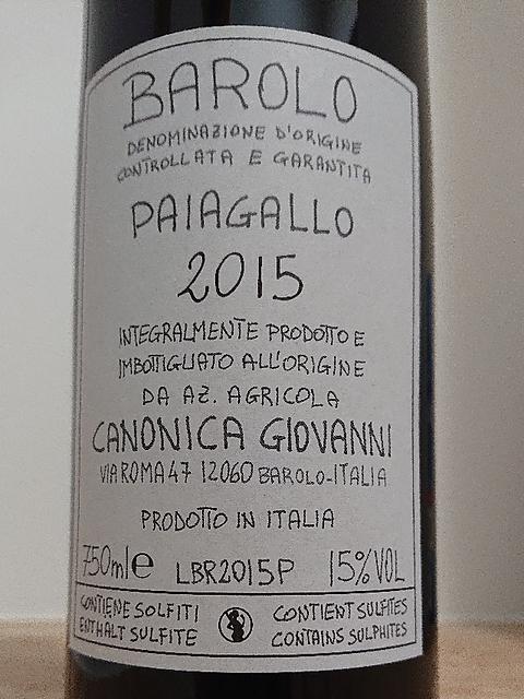 Giovanni Canonica Barolo Paiagallo