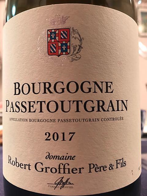 Robert Groffier Père & Fils Bourgogne Passetoutgrain(ロベール・グロフィエ・ペール・エ・フィス ブルゴーニュ パストゥグラン)