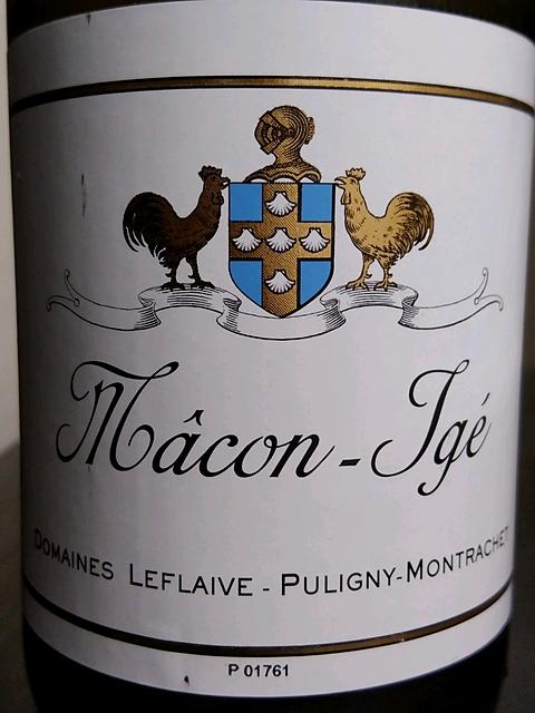 Dom. Leflaive Mâcon Igé(ドメーヌ・ルフレーヴ マコン・イジェ)