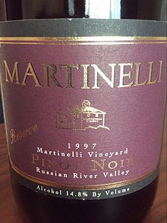 Martinelli Martinelli Vineyard Pinot Noir Reserve
