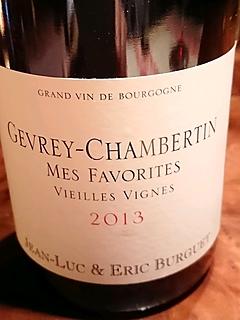 Jean Luc & Eric Burguet Gevrey Chambertin Mes Favorites Vieilles Vignes