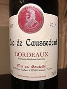 Duc de Caussedent Rouge(2017)