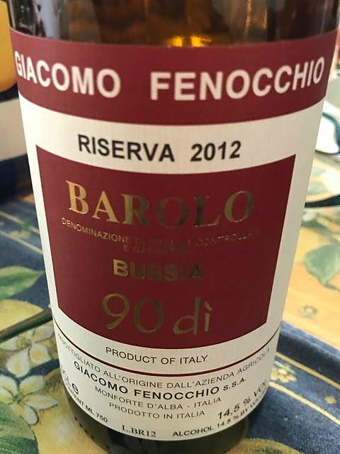 Giacomo Fenocchio Barolo Bussia Riserva