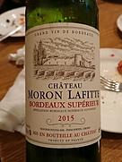 Ch. Moron Lafitte(2015)