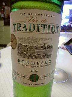Maison Jaubert Vin de Tradition Bordeaux Blanc(メゾン・ジュベール ヴァン・ド・トラディション ボルドー ブラン)