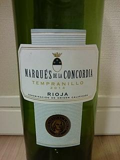 Marqués de la Concordia Tempranillo