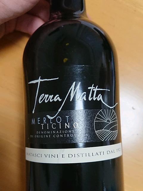 Matasci Terra Matta Merlot Ticino(マタシ テッラ・マッタ メルロー ティチーノ)