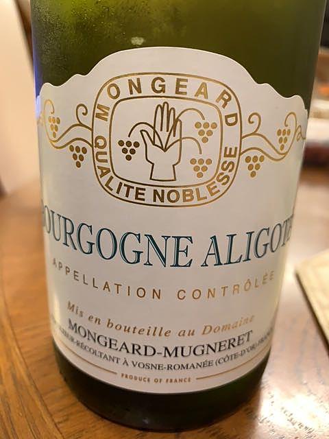 Mongeard Mugneret Bourgogne Aligoté(モンジャール・ミュニュレ ブルゴーニュ・アリゴテ)