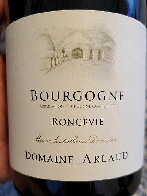 Dom. Arlaud Bourgogne Roncevie(ドメーヌ・アルロー ブルゴーニュ ロンスヴィ)